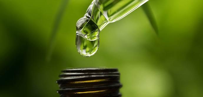 cbd oil droplets